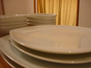 White_tableware